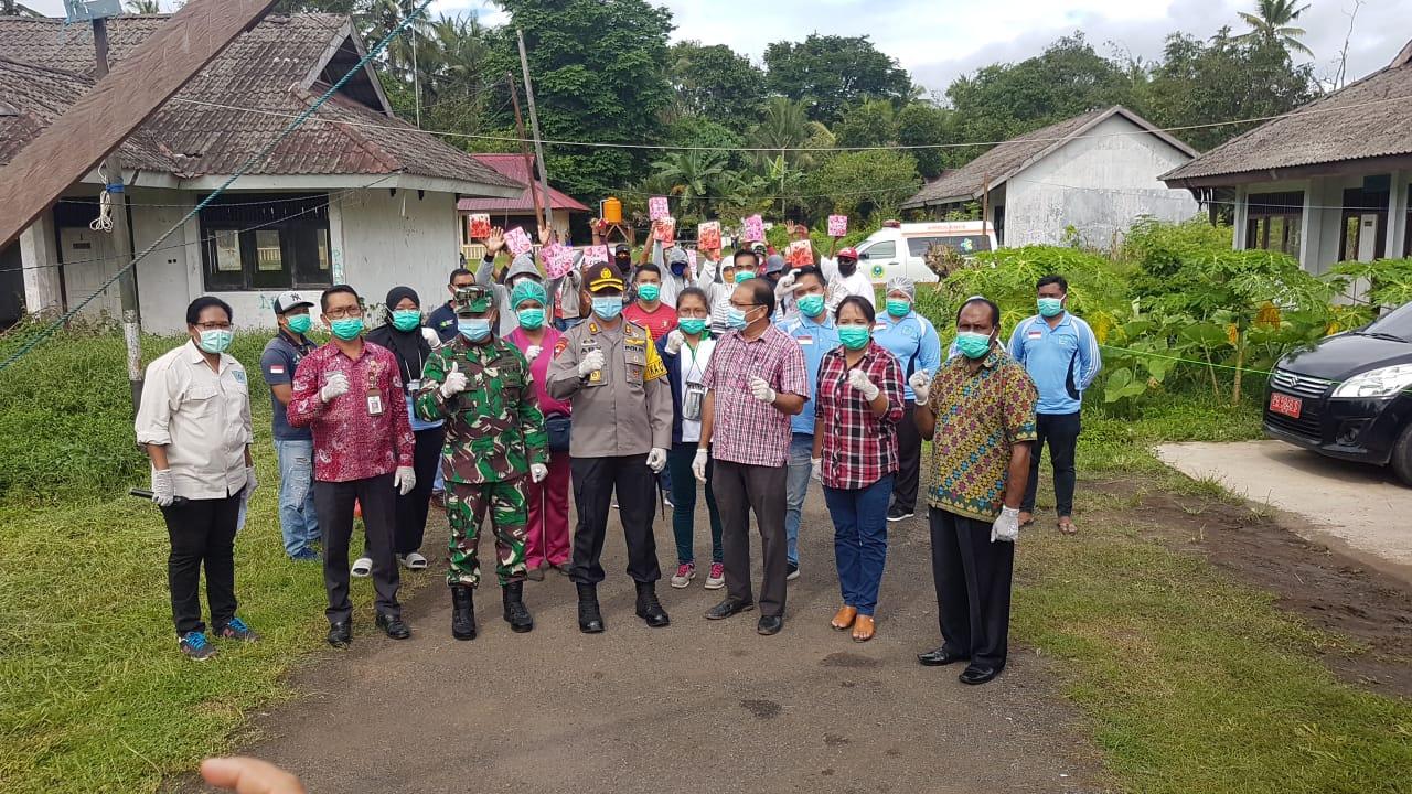Pemulangan 19 Orang Pasien OTG positif Covid 19 yang Sembuh dari Tempat Karantina Diklat Kampung Salak