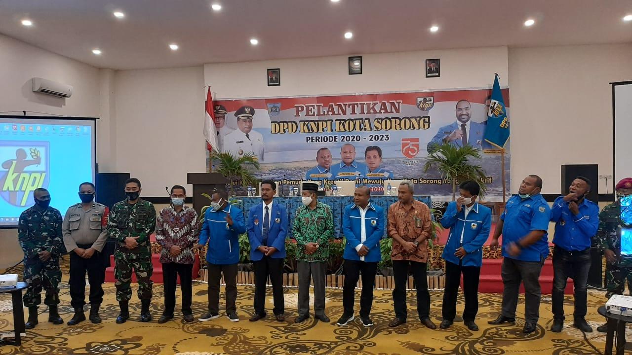 Pelantikan DPD KNPI Kota Sorong Periode 2020-2023